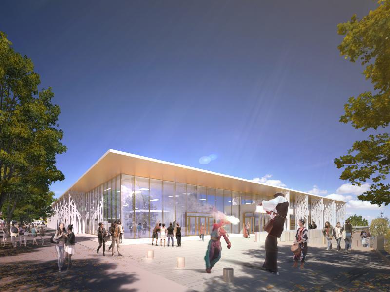 Construction de la maison de la culture  - Bourges (18)