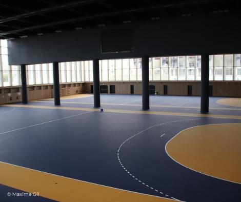 Deux terrains de handball