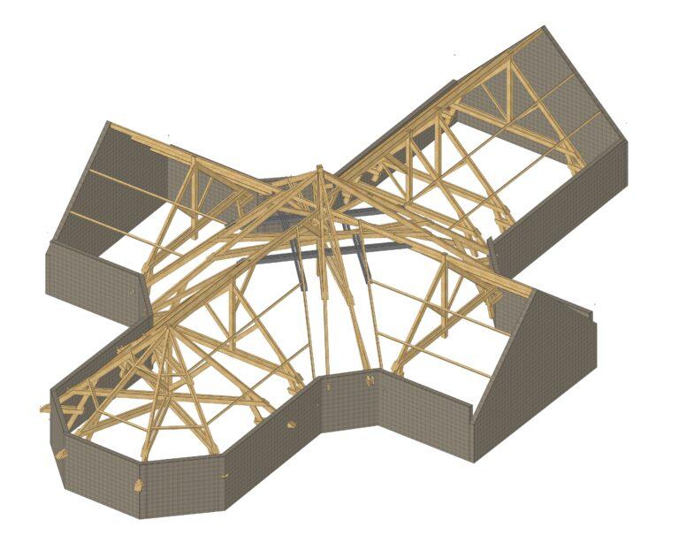 Vue 3D Structure Eglise